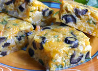 Chile Cheese & Olive Squares