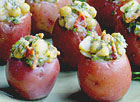 Red Potato Salad Cups