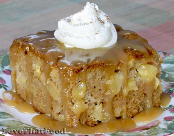 Cream Cheese Pound Cake With Caramel Glaze