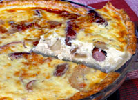 Apple Sausage Quiche
