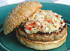 Asian Turkey Burgers with Pickled Asian Slaw