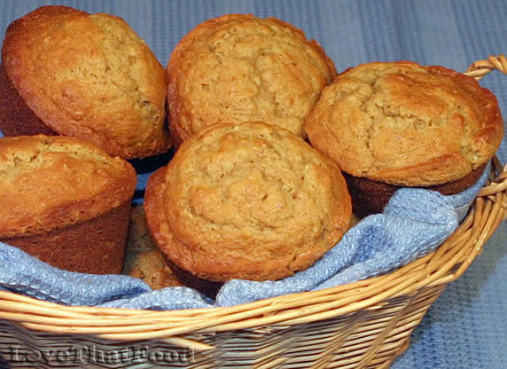 Banana, Cream Cheese & Oatmeal Muffins Recipe with Picture ...