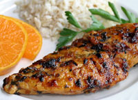 Chipotle, Honey & Tangerine Glazed Chicken