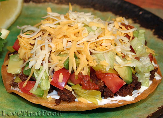 Beef Tostada Recipe with Picture - LoveThatFood.com