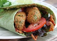 BLT Wraps with Fried Avocado