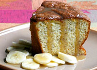 Banana Angel Food Cake