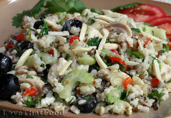 Chicken & Rice Salad with Red Pepper Vinaigrette