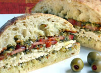 Chicken Panini Tapenade