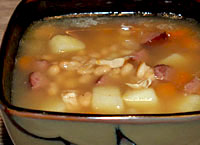 Chicken, Sausage, Potato and Bean Soup