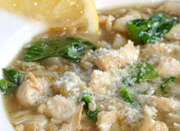 Chicken, Spinach and Orzo Soup
