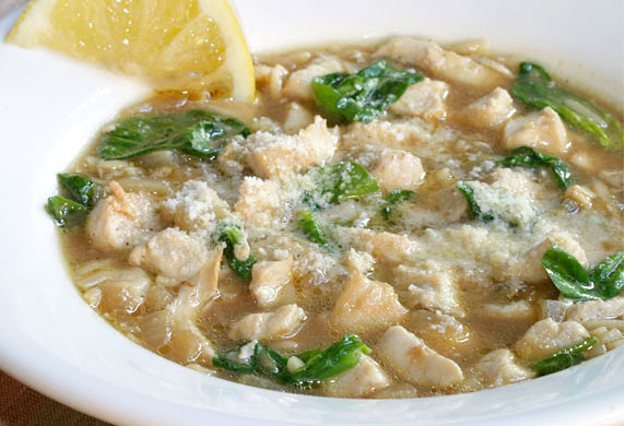 Chicken, Spinach and Orzo Soup Recipe with Picture - LoveThatFood.com