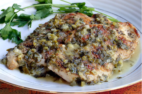 Chicken with Lemon Herb Sauce Recipe with Picture - LoveThatFood.com