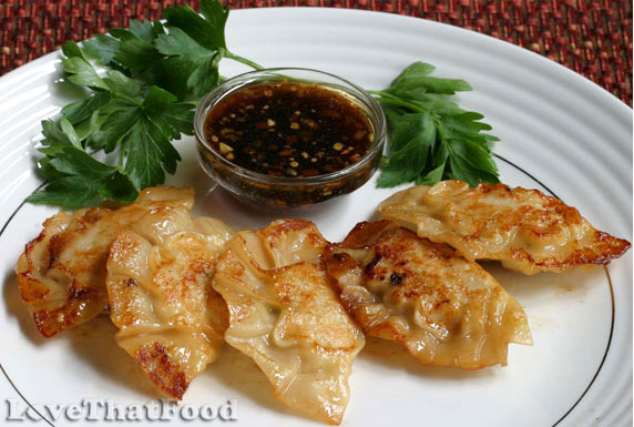 Chicken Pot Stickers Recipe with Picture - LoveThatFood.com