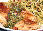 Pesto Chicken Linguine with Sun-Dried Tomatoes