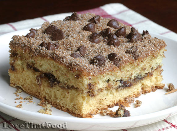 Chocolate Chip Sour Cream Coffee Cake Recipe with Picture ...