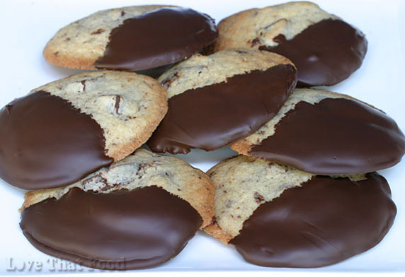 Chocolate-Dipped Chocolate Chunk Cookies Recipe with ...