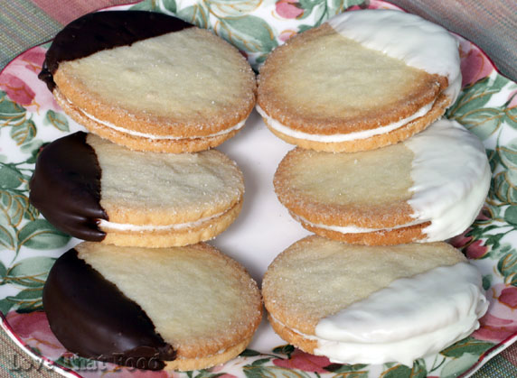 Chocolate-Dipped Shortbread Sandwich Cookies Recipe with ...