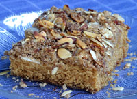 Cinnamon Coffee Cake with Almond Crumb Topping