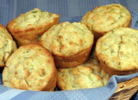 Cream Cheese and Green Onion Muffins