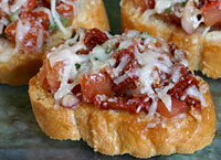Double Tomato and Cheese Bruschetta