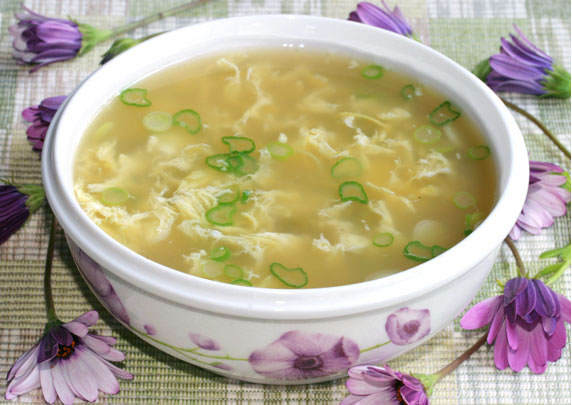 how to make egg flower soup