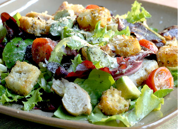 garden salad with dijon vinaigrette - Garden Salad Recipe