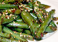 Garlic and Ginger Green Beans