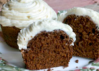 Ginger Cupcakes with Cream Cheese Frosting