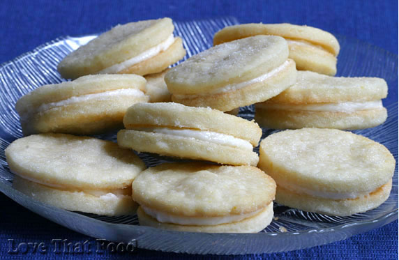 Lemon Shortbread Sandwich Cookies