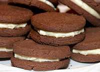 Malted Chocolate Sandwich Cookies