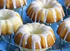 Mini Pound Cakes with Lemon Glaze