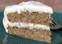 Oatmeal Applesauce Cake with Cream Cheese Frosting