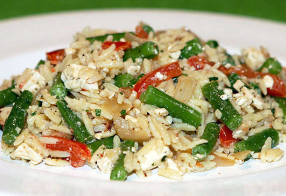 Orzo, Feta and Bean Salad