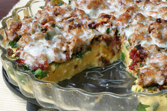 Egg Casserole With Italian Cheeses, Sun-Dried Tomato And Fresh Herbs ...