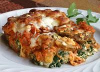 Potato and Spinach Lasagna