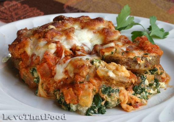 Potato And Spinach Lasagna