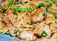 Rice Noodles with Pork and Peanut Sauce