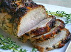 Roast Pork with Garlic and Thyme