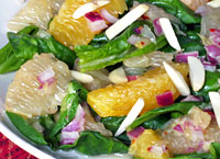 Citrus Spinach Salad with Almonds
