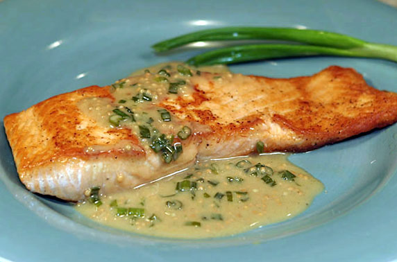 Salmon With Maple Mustard Sauce Recipe With Picture Lovethatfood Com