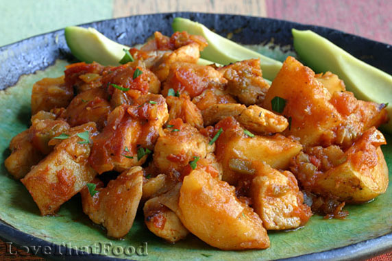 Recipe with potatoes and chicken