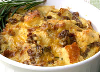 Sausage Strata with Rosemary
