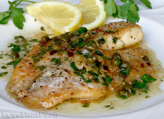 Tilapia with Capers and Lemon Wine Sauce Recipe with ...