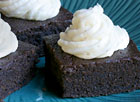 Spiked Eggnog Brownies