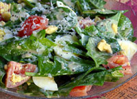 Spinach Salad with Golden Dressing