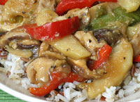 Ginger Chicken Stir-Fry with Apples