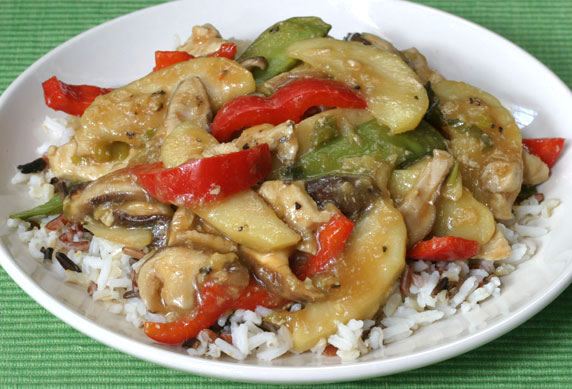 Ginger Garlic Chicken Stir-Fry with Apples Recipe with Picture ...