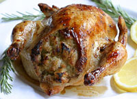 Stuffed Cornish Hens with Rosemary and Lemon