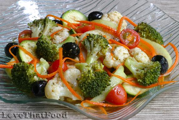 Vegetable Salad With Rosemary Vinaigrette