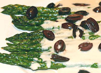 Asparagus with Tahini Yogurt Sauce